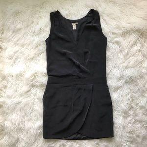 J CREW CHARCOAL GRAY SILK DROP WAIST DRESS